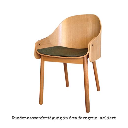 Sitzauflage Filz Holzstuhl