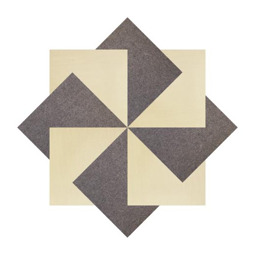 Muster Industriefilz selbstklebend