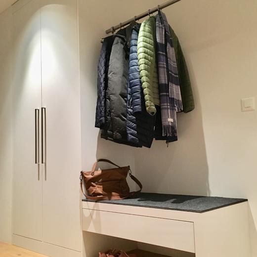 Wollfilzauflage 10mm für Garderobe I