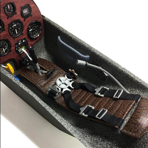 Spezialanfertig Ledersitzauflage für Modellflugzeug I